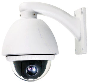 Outdoor Dome PTZ Camera + Samsung Camera